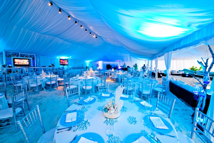 Wedding reception lighting tropical destination management wedding receptions lighting in turks and caicos planner junglespirit Choice Image