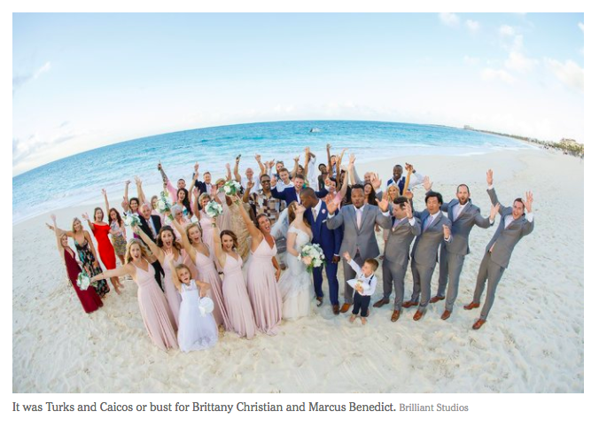 Turks caicos wedding featured in the new york times brittany and marcus were planning to get married on sept 30 at beaches resortuntil hurricanes irma and maria came through the islands forcing them to junglespirit Image collections